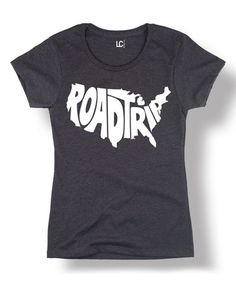 Love this Heather Charcoal 'Road Trip' America Fitted Tee on #zulily! #zulilyfinds