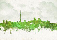 Clouds over the skyline of Toronto, Ontario, Canada. Toronto Skyline, Canvas Prints, Framed Prints, Toronto Canada, Wood Print, Ontario, Hand Painted, Clouds, Age
