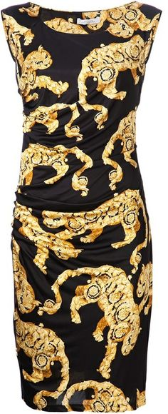 Versace scoop neck dress on shopstyle.com