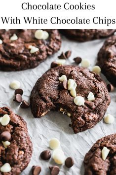 Chocolate Texture, Big Chocolate, Double Chocolate Chip Cookies, Semi Sweet Chocolate Chips, Melted Chocolate, Double Chocolate Chip Cookie Recipe, Chocolate Chip Pudding Cookies, Mini Dessert Recipes, Delicious Cookie Recipes