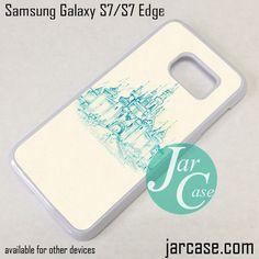 Disney Castle Blue Print Phone Case for Samsung Galaxy S7 & S7 Edge