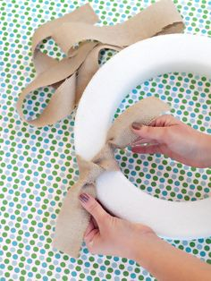 How To Create Burlap Wreaths   Easy-to-Make Burlap Wreath : Decorating : Home & Garden Television