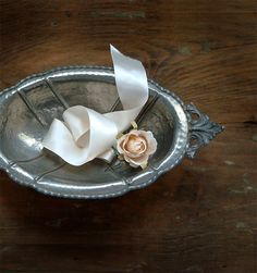 Antique Italian Oval Dish  Pewter Two Handled by millyscollection,