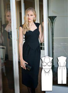 Vintage Coco Dress #V3 http://www.burdastyle.com/pattern_store/patterns/coco-dress?utm_source=BurdaStyle&utm_medium=bs&utm_campaign=bsttbl130415exclusivevintagecollection-cocodress