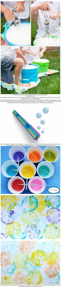 Color soap bubbles - such a cute fun art project!!