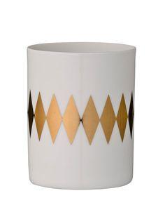 Teelichthalter Rauten gold One Size