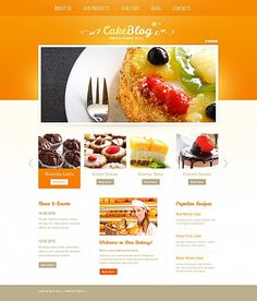 Template 41737 - Cake & Bakery Moto CMS HTML Website Template