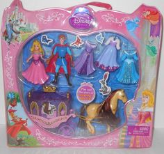 Disney Favorite Moments Princess Sleeping Beauty Deluxe Polly Gift Set for sale online Diy Birthday, Birthday Gifts, Disney Silhouettes, Toys For Tots, Embellished Gown, Polly Pocket, Stylish Nails, Princesas Disney, Amelia