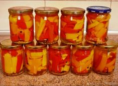 Papryka marynowana Mason Jars, Food And Drink, Cooking Recipes, Pickling, Cooker Recipes, Chef Recipes, Mason Jar, Recipes, Recipies