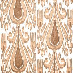 John Robshaw Textiles - Fergana Clay - Blockprinted Linens - Fabric