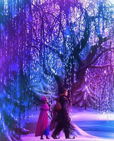 deep in the crystal forests: Anna and Kristoff