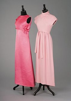 Two Givenchy pink evening gowns,1060's    @Lydia Adame one for me, one for you. Let's go to NY and go to dinner and a show in these lovelies, shall we?? :)