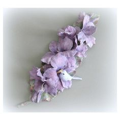 Purple Flower Wall Flower Sculpture Hand Painted Flower Wall Sculpture... ($48) ❤ liked on Polyvore featuring home, home decor, floral home decor, floral sculpture, purple home decor and purple home accessories