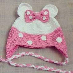Ideas For Knitting Loom Beanie Crochet Baby Costumes, Crochet Kids Hats, Crochet Cap, Baby Girl Crochet, Crochet Beanie, Crochet Home, Crochet Crafts, Loom Knit Hat, Loom Knitting