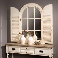 Dieser Spiegel ist das perfekte gewisse Etwas für deine Einrichtung im Landhausstil! http://restyle24.de/Landhaus-Wandspiegel-Monzas-mit-Tueren-weiss