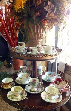 Tea anyone? Vintage tea cups, the majority are Occupied Japan.