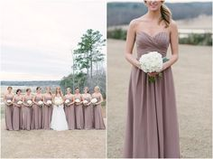 dusty purple and taupe bridesmaids - Google Search