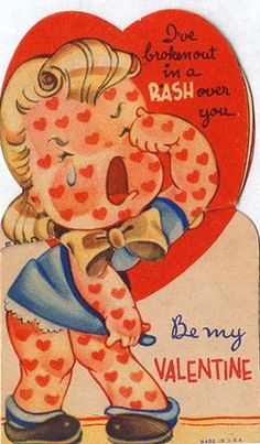 Image detail for -Vintage Valentine's Day Cards - Ananas à Miami