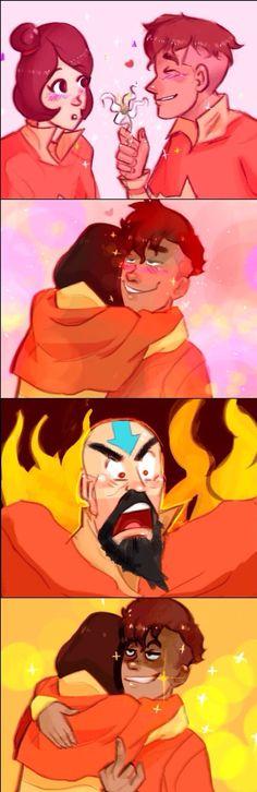 Kai and Jinora.  And thrn there's Tenzin..