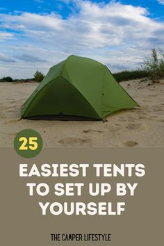 Many camping tents are a complete nightmare to set up without help, however, the good news is that plenty of tents are a breeze to set up alone. In this article, we review 25 tents that you can easily set up by yourself. From the best large family tents to smaller backpacking and car camping tents that are a breeze to pitch. Enjoy the great outdoors and get more time with the kids at the campsite with a tent that's easy to set up. #campinggear #tentcamping #campingtips #tentreview #besttents Camping Needs, Best Tents For Camping, Cool Tents, Tent Camping, Campsite, Outdoor Camping, Best Hiking Gear, Thru Hiking, Family Tent