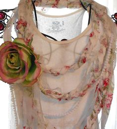 Romantic English rose Statement Necklace by TrueRebelClothing, $45.00