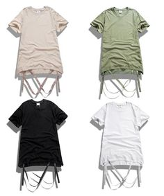 Men's Ribbon Strapped Short Sleeve T shirt