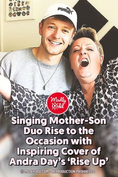 "With ""X Factor UK"" credentials to his name, Jordan Rabjohn doesn't need to prove he's got a great voice. But he also wants the world to hear his mother, who joined him to belt out Andra Day's ""Rise Up"" as inspiration for anyone who needs it. #singing #moms #riseup"