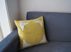 PILLOW / Mustard  Pillow Cover Lace Throw Pillow by SpecialFabrics