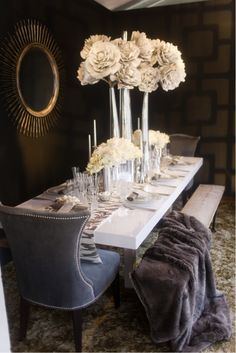 dinning room Beautiful tablescape on Pure Home's blog.