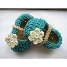 Crochet Pattern Baby Booties, Ballet Flats