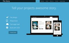 The Story - Flat Business Template - WrapBootstrap: Themes for Twitter Bootstrap