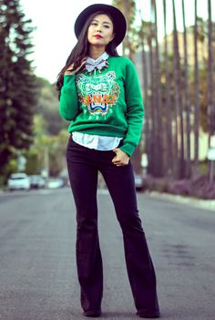 KENZO tiger sweater #streetstyle - Spritzi, fashion blogs news in real time #mode #blogueuse