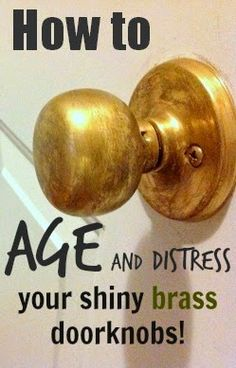 Do you have any of those shiny yellow-brass circa 1993 doorknobs around your house? We have a whole assortment of different eras represented on different doors around here, but the one in my front hall was the lame-o shiny kind. But I fixed it up good. Yes I did. Originally I had thought about maybe …