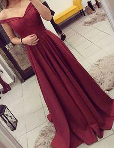elegant off shoulder prom party dresses, cheap burgundy evening dresses, fancy prom dresses 2017