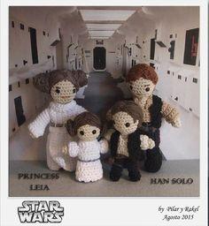 #amigurumi Star Wars Han Solo, Leia