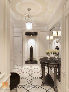 Фото прихожая из проекта «Дизайн трехкомнатной квартиры 100 кв.м. в стиле неоклассики, ЖК «Смольный парк»»