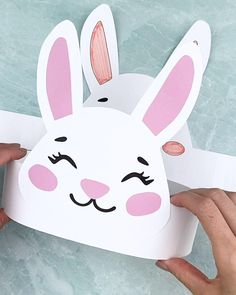 Animal Crafts For Kids, Spring Crafts For Kids, Paper Crafts For Kids, Craft With Paper, Rabbit Crafts, Bunny Crafts, Easter Crafts, Easter Decor, Easter Bunny Template