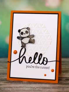 Houses Built of Cards: Hello Cute Panda!