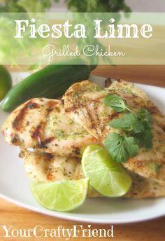 Fiesta Lime Grilled Chicken on MyRecipeMagic.com