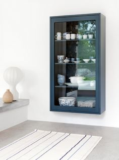beautiful blue display cabinet