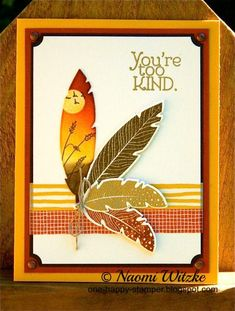 Golden Feather Scene Stampin' Up!