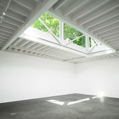 South London Gallery by 6A - nice exposed roof joists painted white