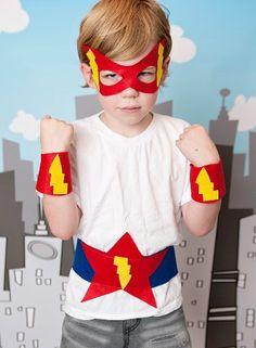 Superhero wrist bands and belt