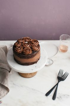 One-Bowl Chocolate Cake (For Two)   A Cozy Kitchen