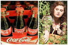 coca cola in gradina