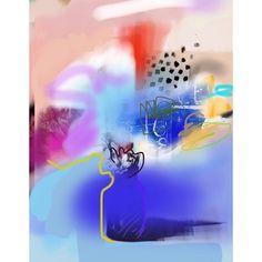 Emily Filler - iPad drawing... #art #ipaddrawing #painting #abstract #florals #flowers #bouquet #mixedmedia #contemporaryart #ss16 #aw16 #fw16 #ss17 #dscolor #emilyfiller