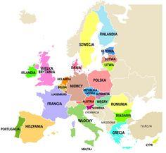 państwa unia europejska mapa Lol, Education, Geography, Finland, Europe, Teaching, Onderwijs, Fun, Learning