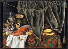 Cornelius Norbertus Gijsbrechts (c. 1610- after 1683), 'Trompe l'Oeil with Breakfast Piece and Goblets', 1672, KMSsp811