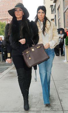 Kim Kardashian And Sister Kourtney Kardashian In New York, October 2010