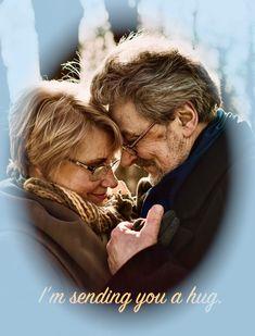 "A hug goes a long way - it says ""Im here for you"". Send one! Sending You A Hug, Hugs, Sayings, Couple Photos, Movie Posters, Fictional Characters, Image, Big Hugs, Couple Shots"